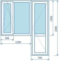 Стандартные размеры окон в домах серии 1609 все о пластиковы.
