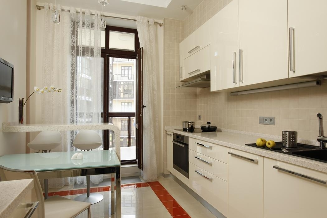 Дизайн кухни 13 м кв с балконом