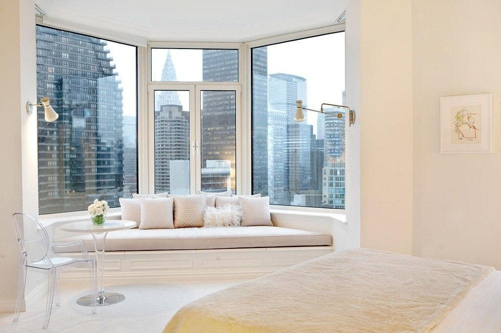 Спальня с большими окнами, дизайн, фото все о пластиковых ок.