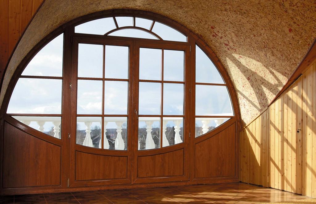 Заказать арочные пластиковые окна у производителя калева.
