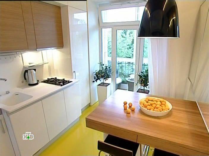 Дизайн кухни с окнами в пол