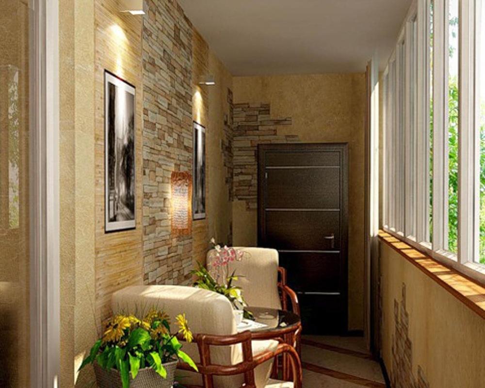 Отделка и дизайн балкона.