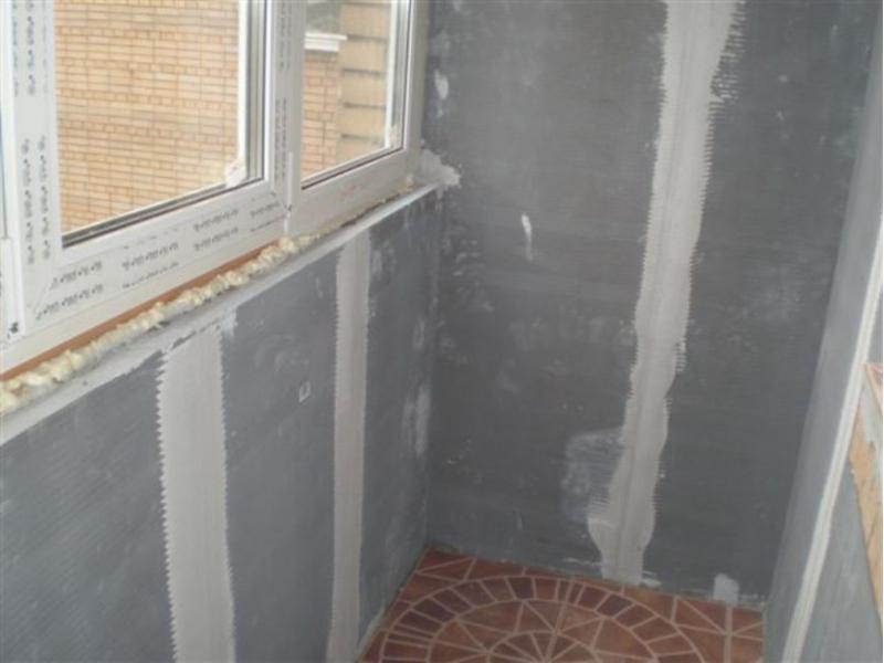Утепление балкона своими руками гипсокартона