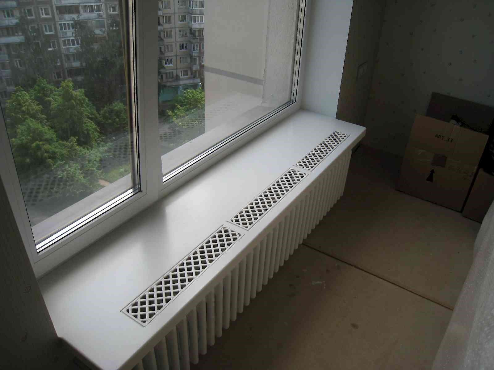 Вентиляционные решетки для подоконника в квартире