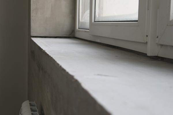 Рис. 7. Черновой бетонный подоконник
