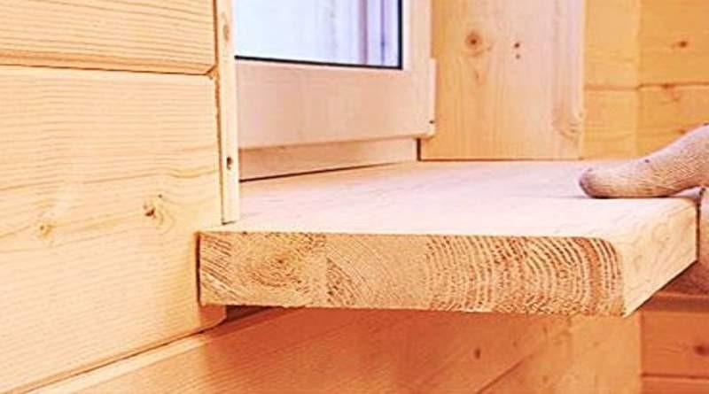 Рис. 1. деревянный подоконник