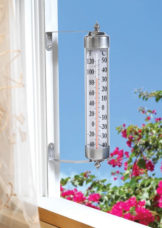 Рис. 2. Жидкостный термометр, закрепленный на раме