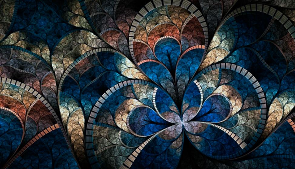 Рис. 3. Витраж Арт-деко из мозаики