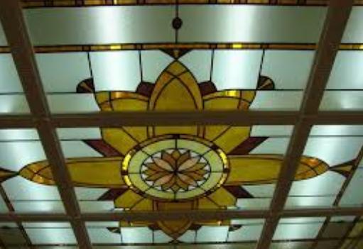 Рис. 5. Фото винтажный потолок Арт-деко