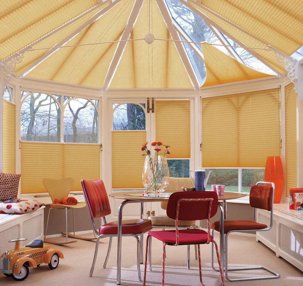 Рис. 12. Потолочные шторы плиссе