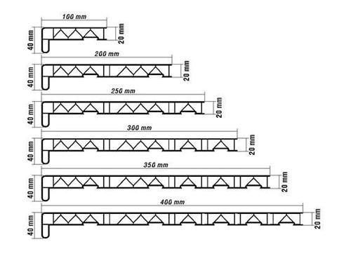 Рис. 14. Размеры подоконников