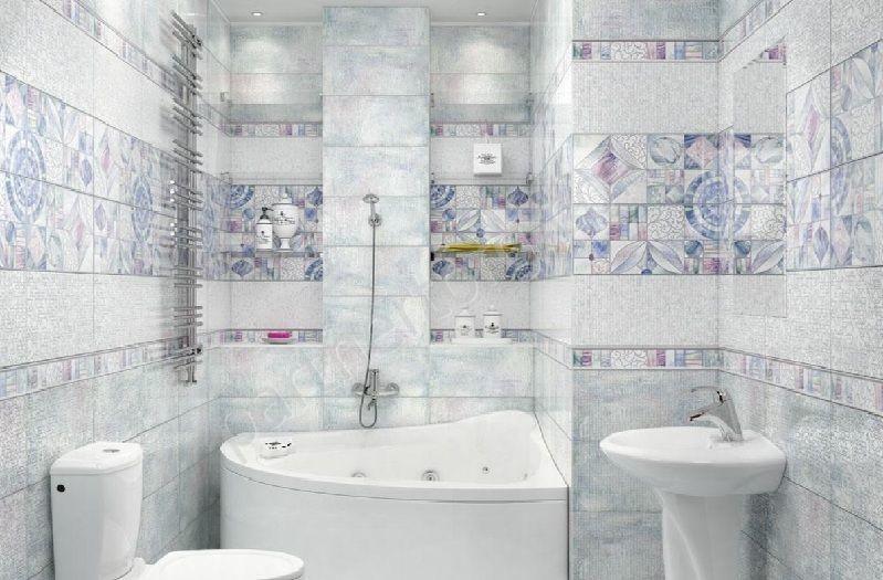Рис. 3. Светлый тон орнамента в ванной улучшает эмоциональный настрой