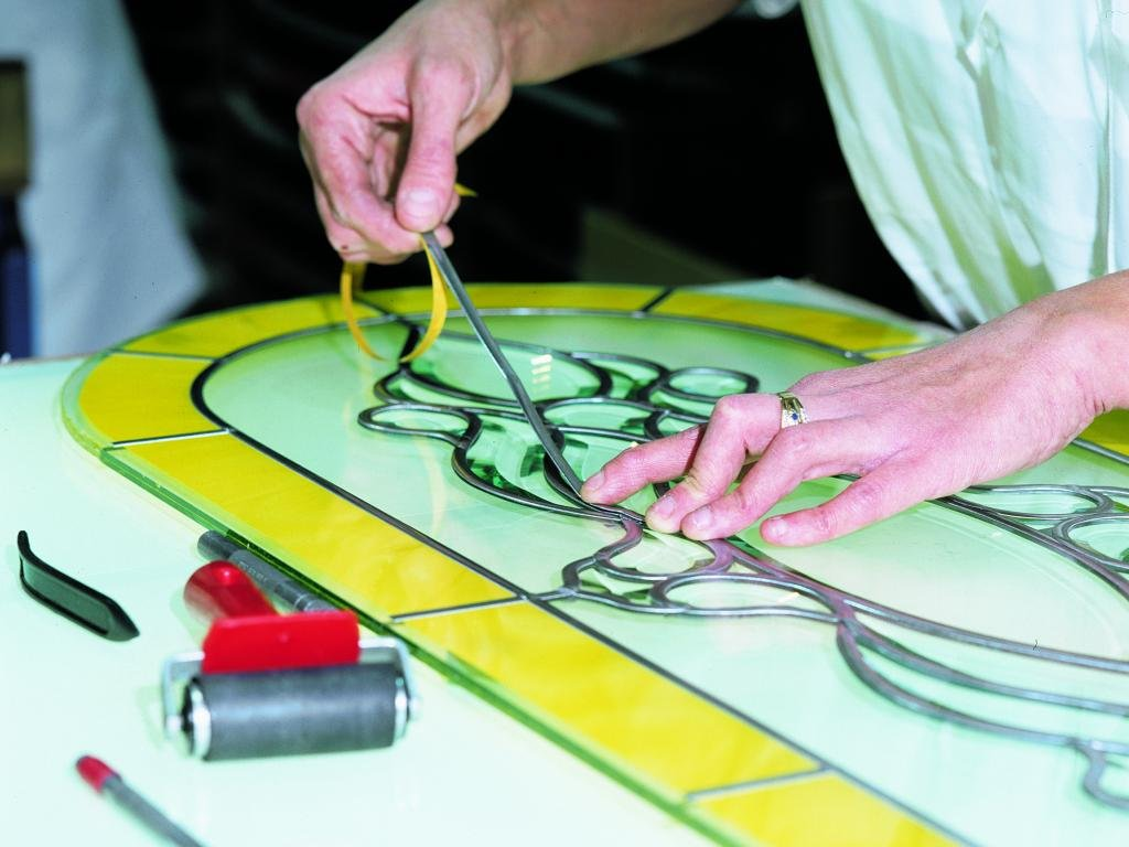 Заливной витраж своими руками в домашних условиях стол круглый
