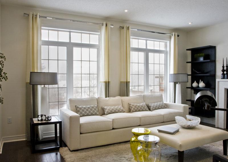 Дизайн окон в гостиной фото