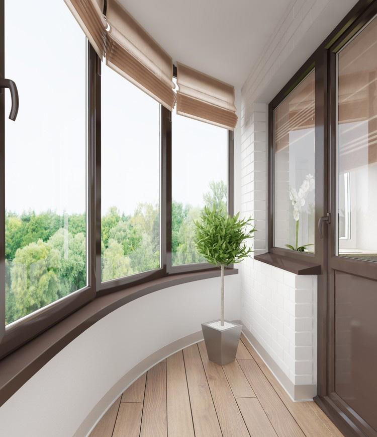 Дизайн полукруглого балкона