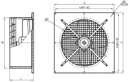 Рис. 8. Размеры промышленных вентиляторов значительно больше бытовых